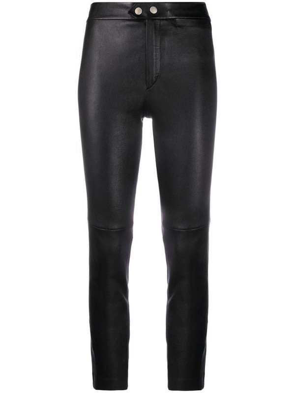 Isabel Marant high-waisted slim-fit trousers in black