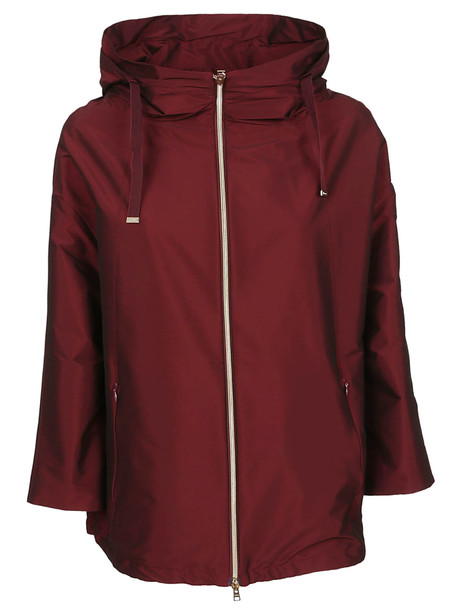 Herno Bordeaux Technical Fabric Jacket in red