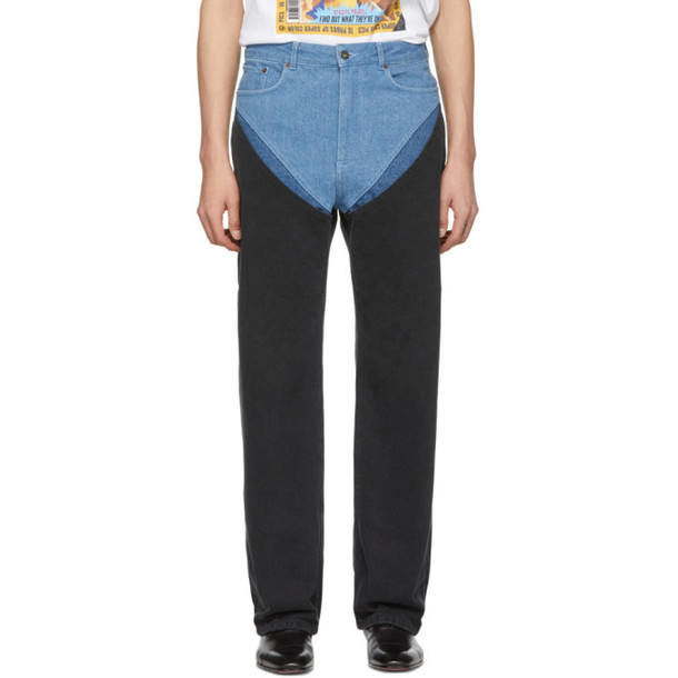 Y-Project Y/Project Blue Cut-Outs Jeans