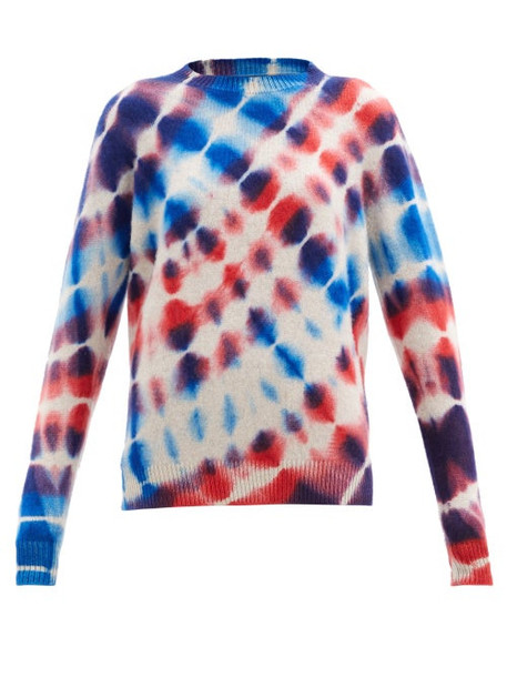The Elder Statesman - Radiate Tie-dye Cashmere Sweater - Womens - Blue Multi