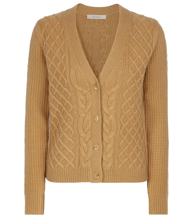 Max Mara Dixi wool and cashmere cardigan in brown
