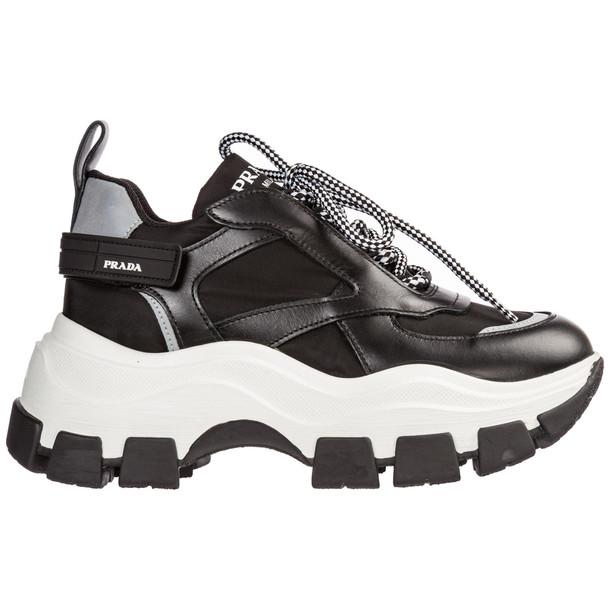 Prada Shoes Trainers Sneakers Block in nero / bianco