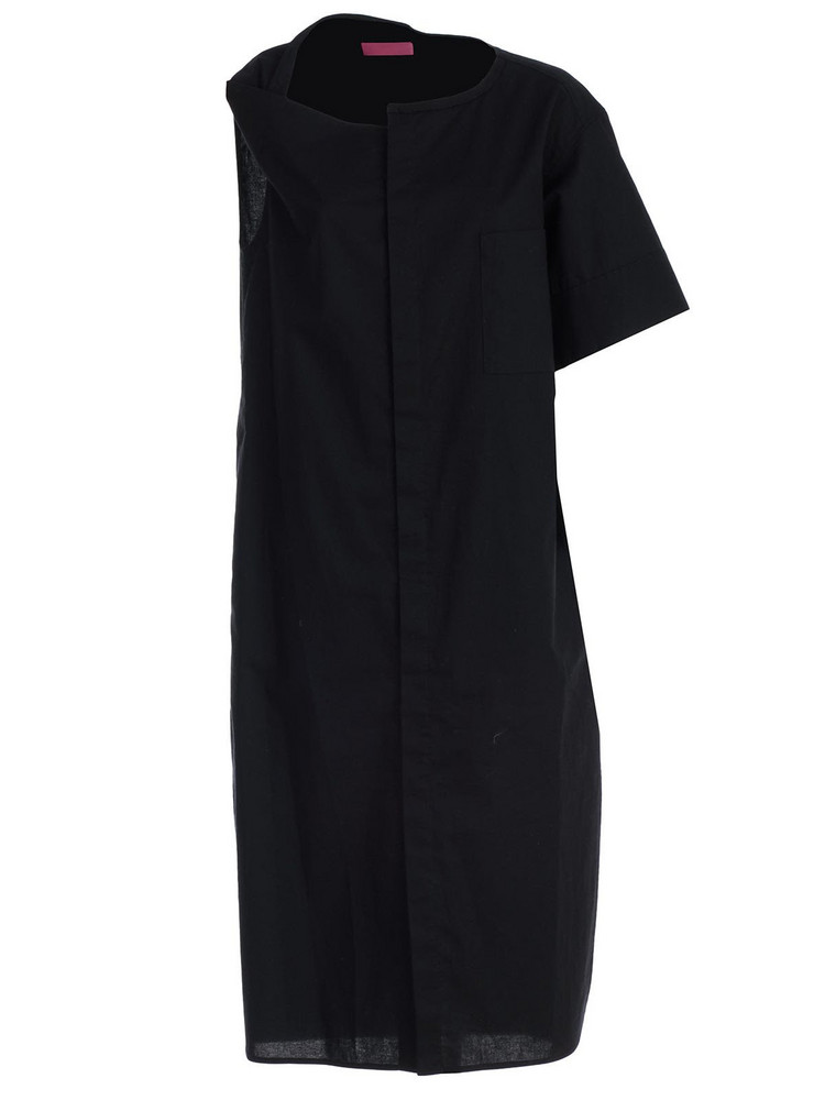 Y's Asymmetric Dress in black