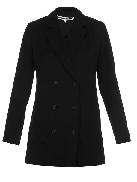 McQ Alexander McQueen Double Breasted Jacket in black