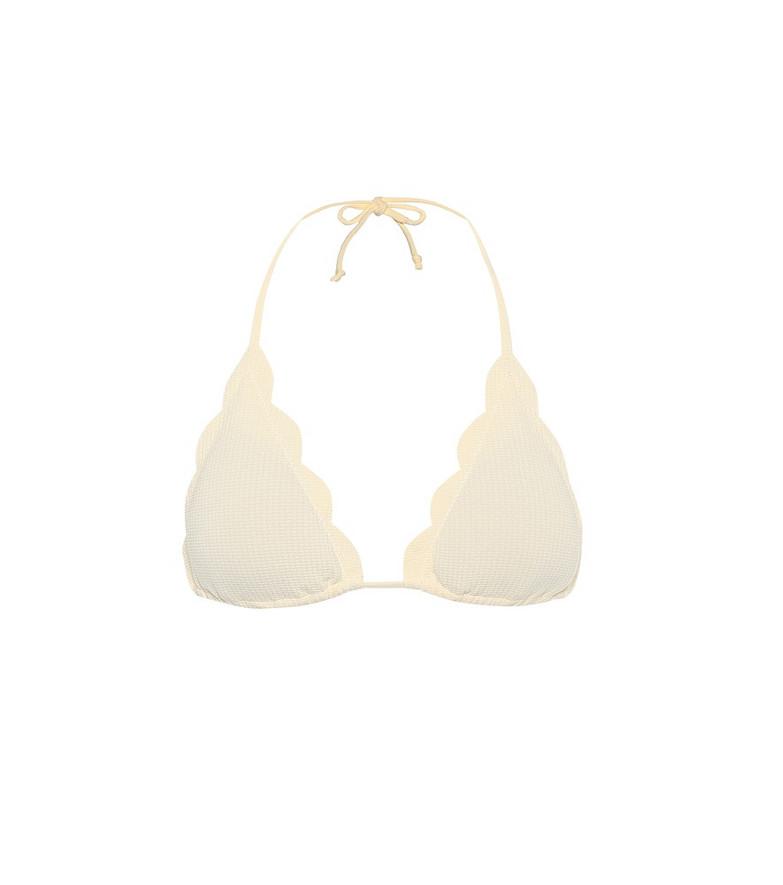 Marysia Broadway bikini top in white