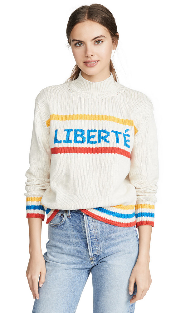 Chinti and Parker Liberte Sweater in blue / cream