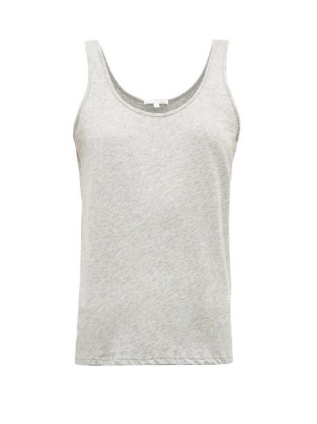 Skin - Scoop Neck Cotton Jersey Tank Top - Womens - Light Grey