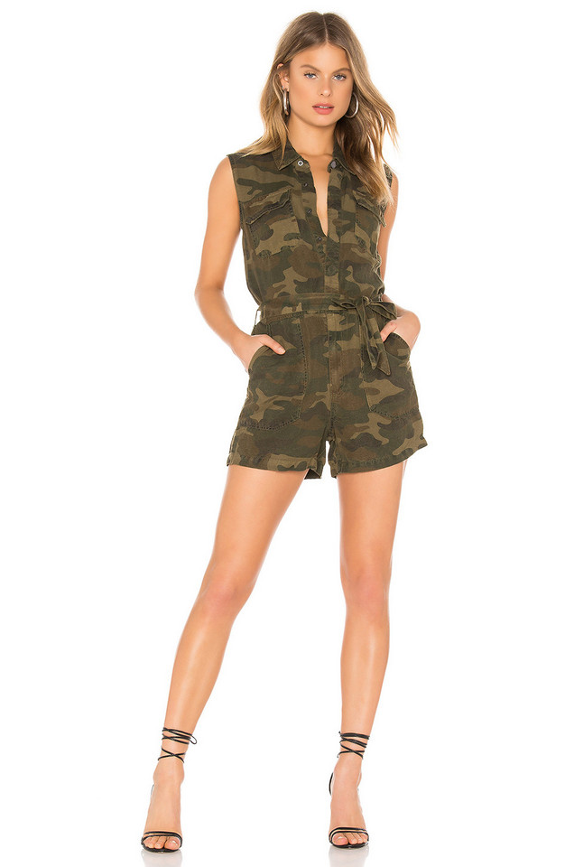 BLANKNYC Camo Playsuit in green