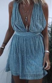 dress,blue glitter dress