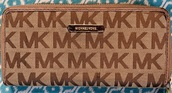 bag,michael kors,brown,tan,jet set,wallet,michael kors wallet