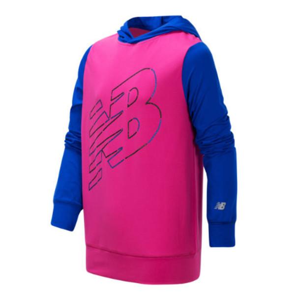 New Balance 15283 Kids' Hooded Pullover - Pink/Blue (GT15283CAP)