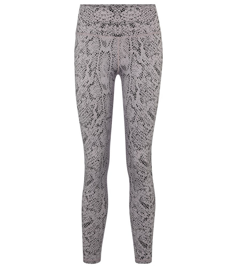 Varley Century snake-print high-rise leggings in silver