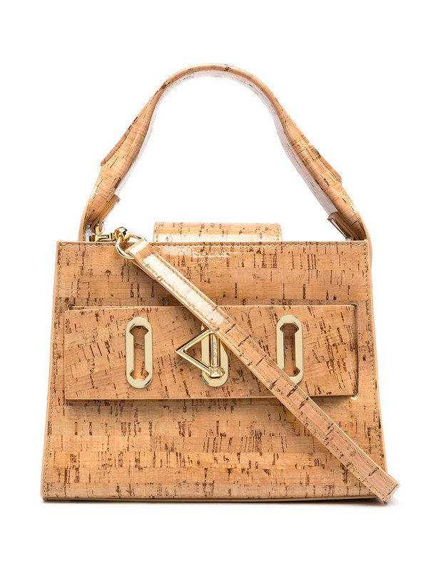 Salar ludo cork tote bag in brown