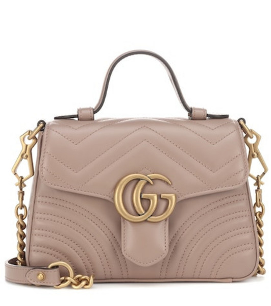 Gucci GG Marmont Mini shoulder bag in beige / beige