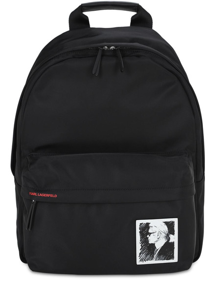 KARL LAGERFELD Karl Legend Nylon Backpack in black