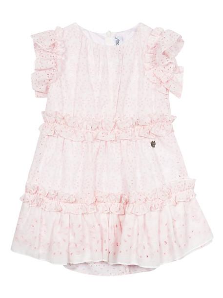 Simonetta Ruffled Trim Dress in pink
