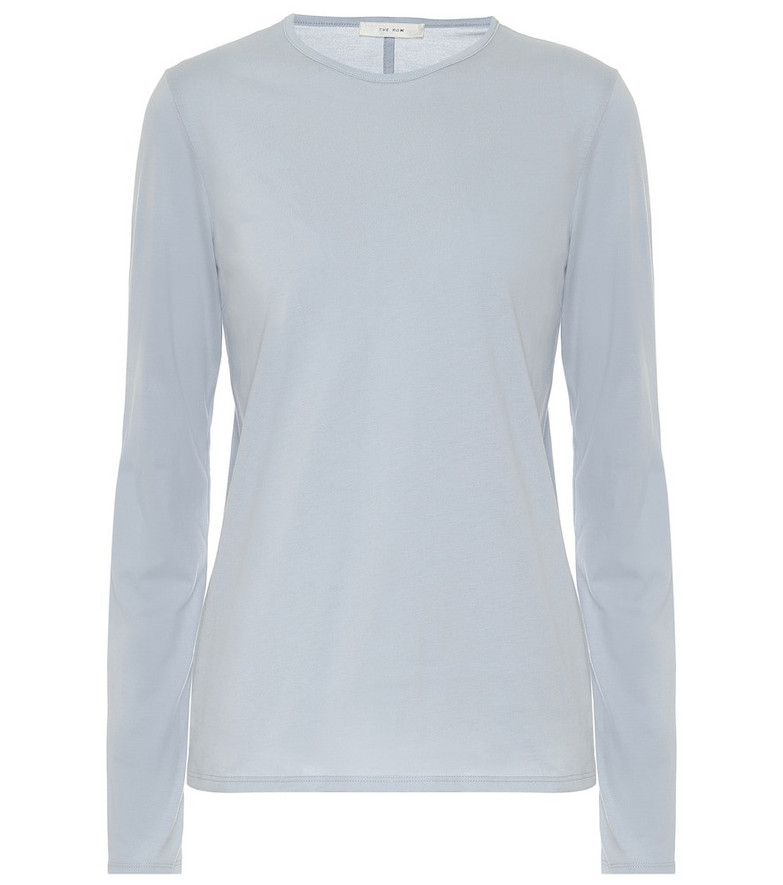 The Row Tabor cotton-jersey T-shirt in blue