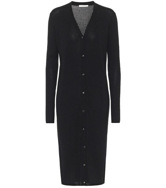 The Row Aleta wool and silk cardigan in black