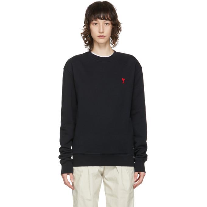AMI Alexandre Mattiussi Black Ami De Coeur Sweatshirt in noir