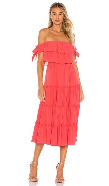 MISA Los Angeles Micaela Dress in Coral
