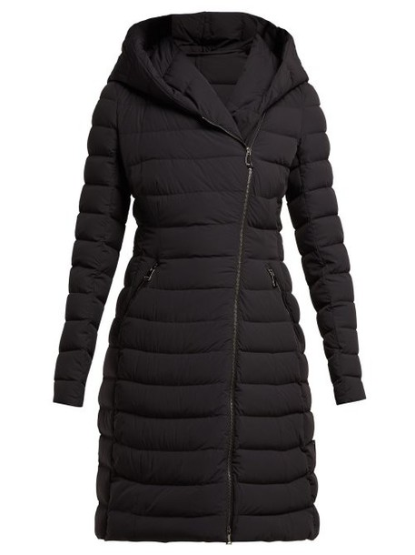 Moncler - Barge Asymmetric Zip Quilted Down Filled Coat - Womens - Black