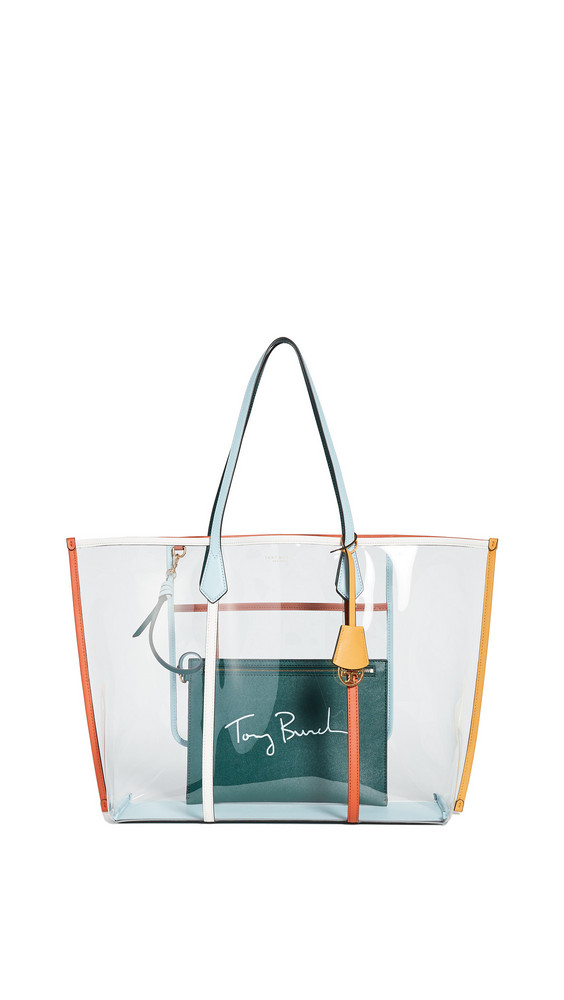Tory Burch Perry PVC Oversized Tote Bag in multi / clear