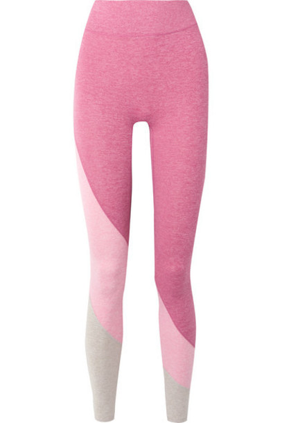 We/Me - The Yin Color-block Stretch-jersey Leggings - Pink