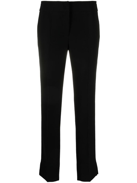 Emporio Armani cropped slim-fit trousers in black
