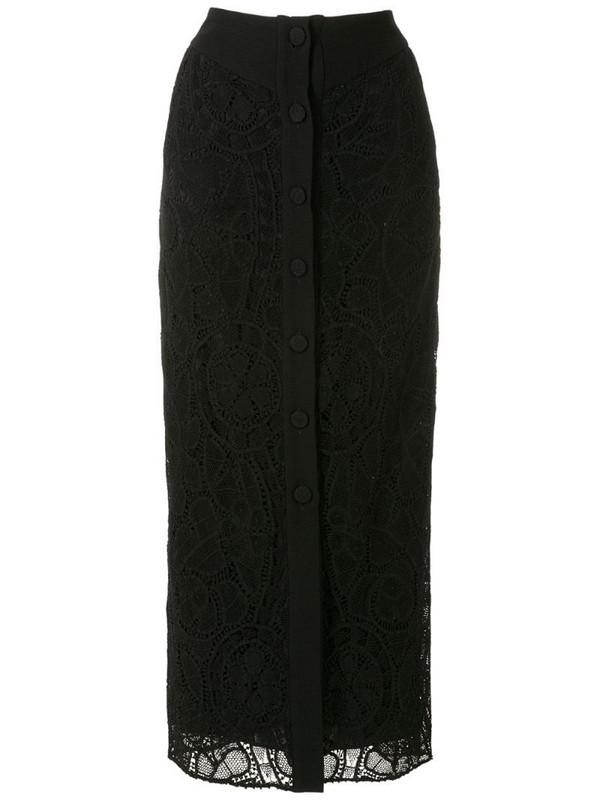 Martha Medeiros Sofia midi skirt in black