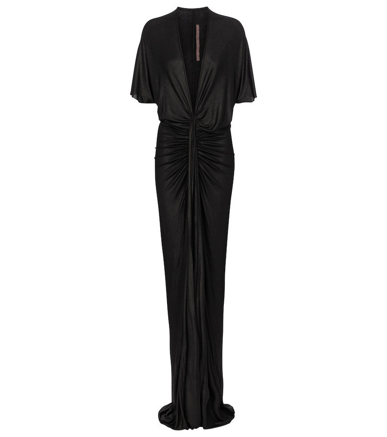 Rick Owens Lilies ruched gown in black