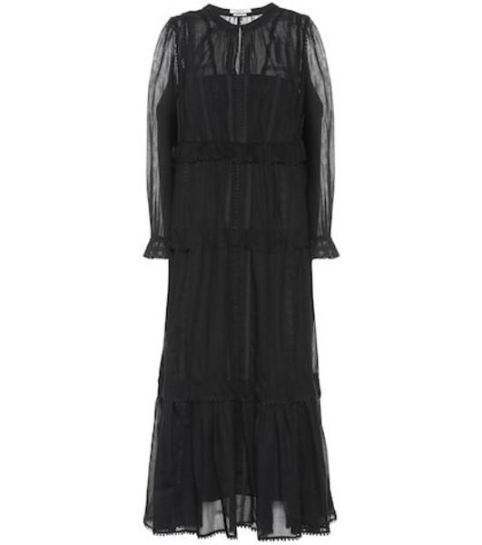 Isabel Marant, Étoile Aboni embroidered cotton dress in black
