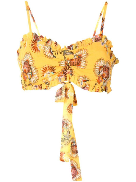 Alexis Alma cropped top in yellow