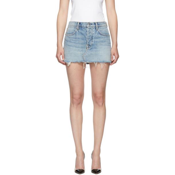 Alexander Wang Blue Snip Zip Skirt