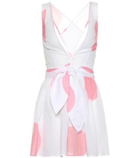 Alexandra Miro Raphaela dotted cotton minidress in white