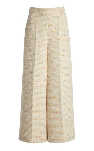 Huishan Zhang Raven Tweed Wide-Leg Trousers in multi