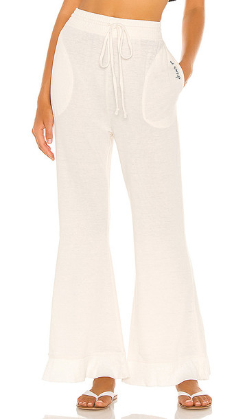 Free People Cozy Cool Lounge Pant in Ivory