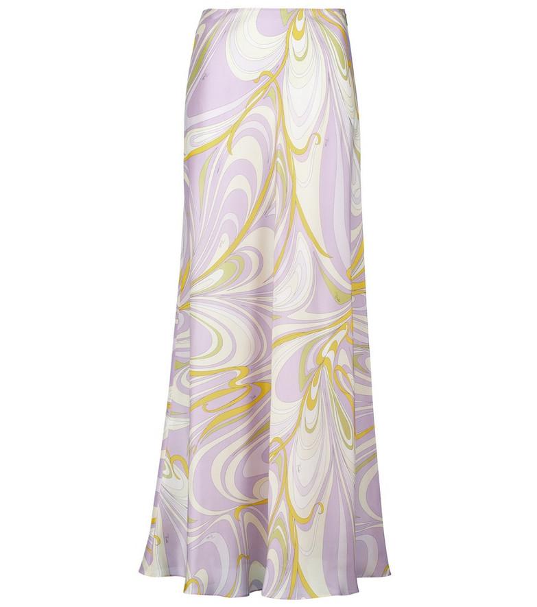 Emilio Pucci Beach Printed silk maxi skirt