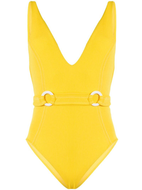 Suboo Ines deep V swimsuit in yellow