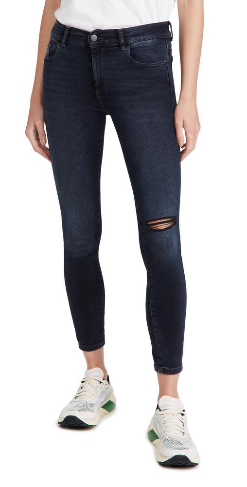 DL DL1961 Florence Skinny Mid Rise Instasculpt Ankle Jeans