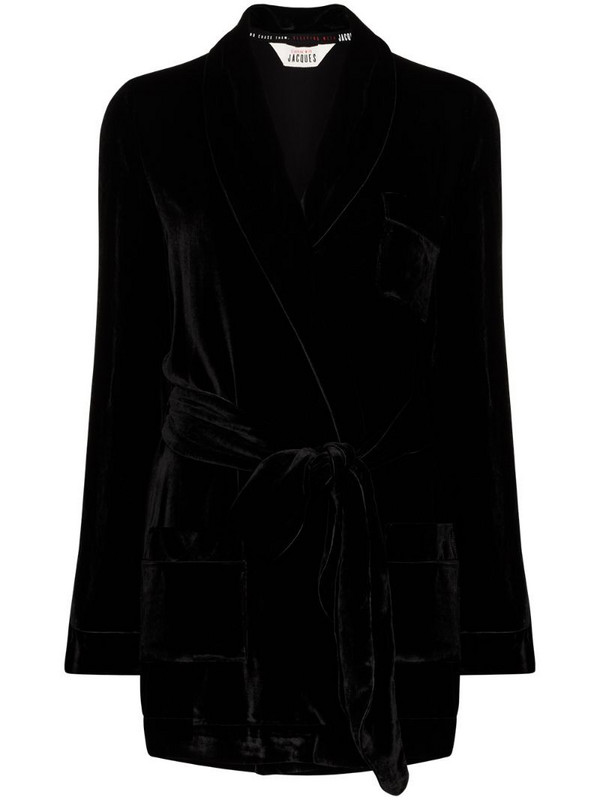 SLEEPING WITH JACQUES The Bon Vivant Robe lounge jacket in black