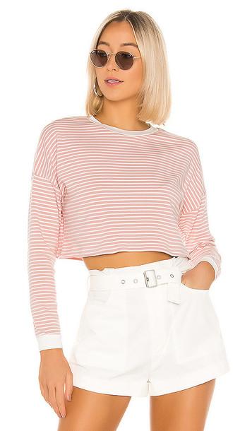 superdown Grace Knit Stripe Top in Pink
