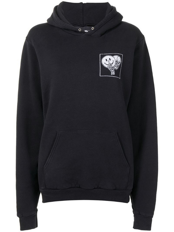Local Authority logo print hoodie in black