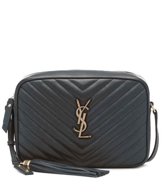 Saint Laurent Lou Camera leather crossbody bag in grey