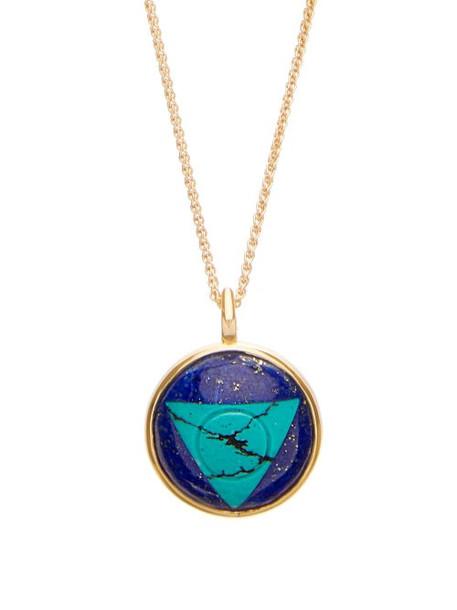 Noor Fares - Vishuddha Lapis, Turquoise & Gold Necklace - Womens - Blue