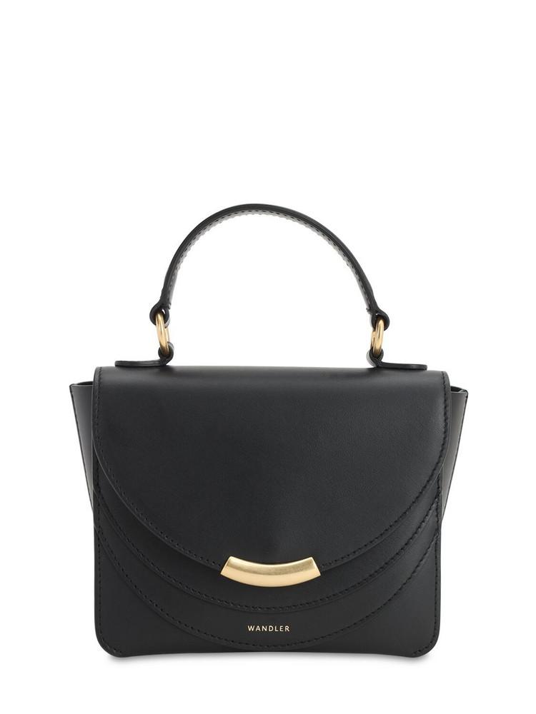 WANDLER Mini Luna Smooth Leather Bag in black