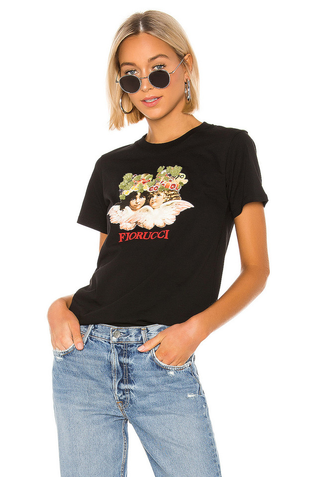 FIORUCCI Andrea Fruit Angel Embroidery Tee in black
