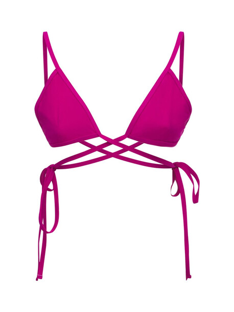 CHRISTOPHER ESBER Stretch Triangle Bikini Top in fuchsia