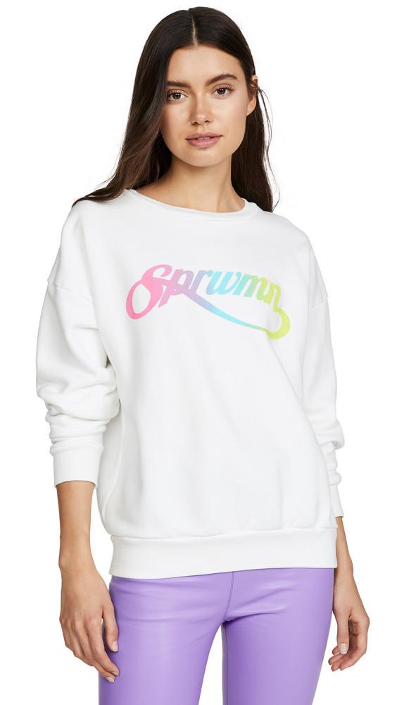 SPRWMN Crew Neck Sweatshirt in white