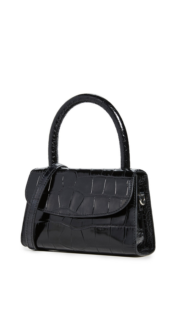 By Far Mini Satchel Bag in black