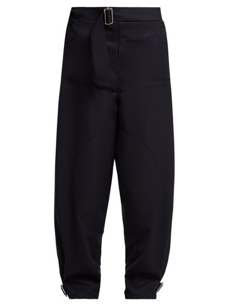 Jw Anderson - Utility Wool Trousers - Womens - Navy